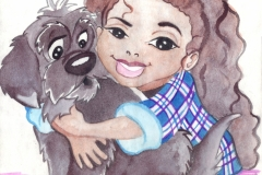 Janet & Puffy Watercolor