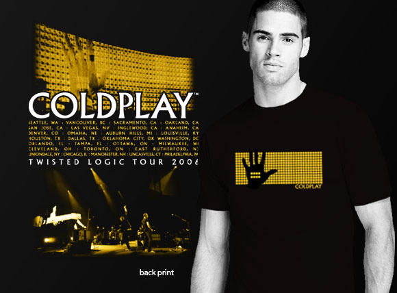 Coldplay Twisted Logic Tour Merchandise